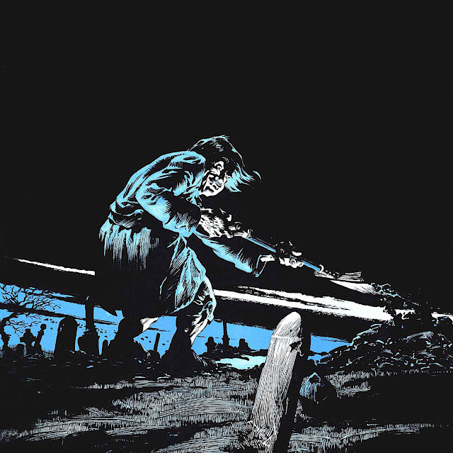 Bernie Wrightson 1975, a crazy grave digger working at night