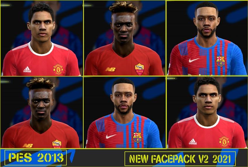 New Facepack V2 2021 For PES 2013