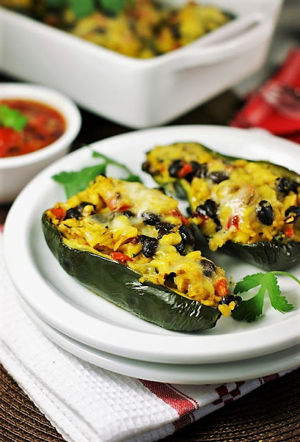 40+ Food & Drink Recipes for Cinco de Mayo Fun - Stuffed Poblano Peppers Image