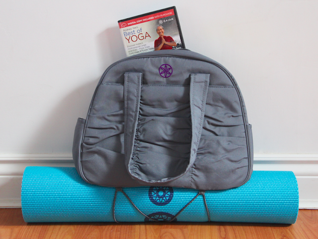 Gaiam Reversible Yoga Mat - Metro Gym Bag - Rodney Yee DVD
