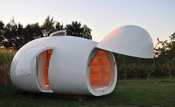 Diseño de casa con forma extraña