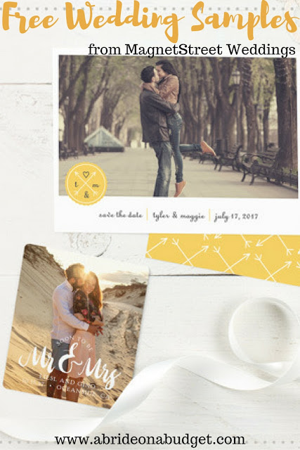 Deciding on your wedding stationery? You can get free wedding samples from MagnetStreet Weddings. Head over to www.abrideonabudget.com to find out how.
