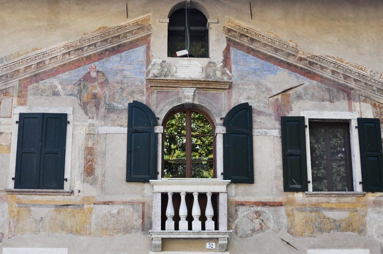 Painted facade, Feltre, Veneto, Italy