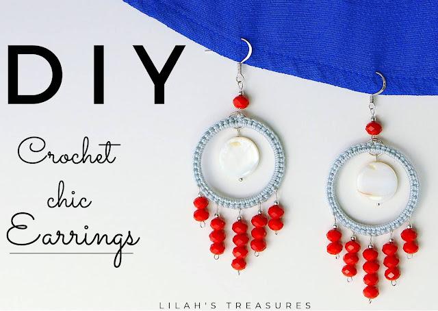 crochet chic earrings