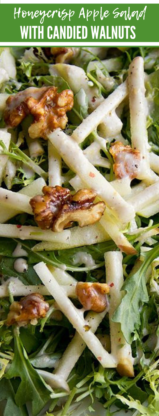 Honeycrisp Apple Salad with Candied Walnuts #salad #apple #vegetarian #vegan #yummy