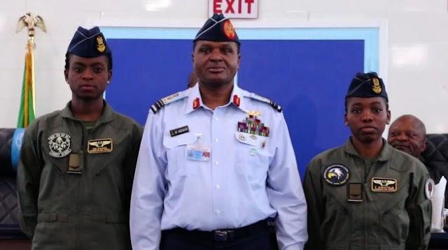 NAF Decorates Kafayat Sanni & Tolulope Arotile As Female Combatant Pilots