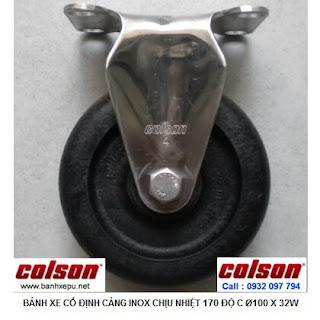 Bánh xe đẩy hàng chịu nhiệt thermo càng inox 304 Colson | 2-4408-53HT banhxepu.net