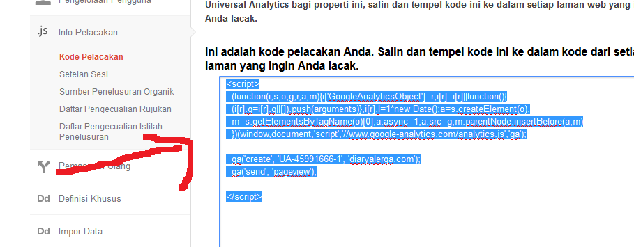 persiapan google analytic