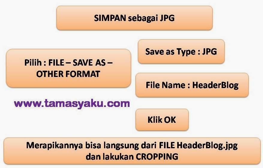 membuat header blog microsoft power point
