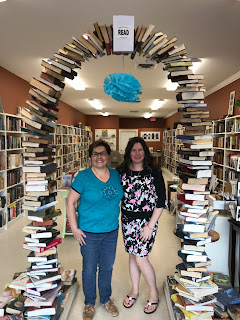 Chris Wolak and Cynde Acanto owner of the Book Club Bookstore, South Windsor, CT (WildmooBooks.com)