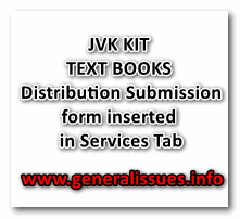 JVK KIT & TEXT BOOKS Distribution Submission form inserted in Services Tab
