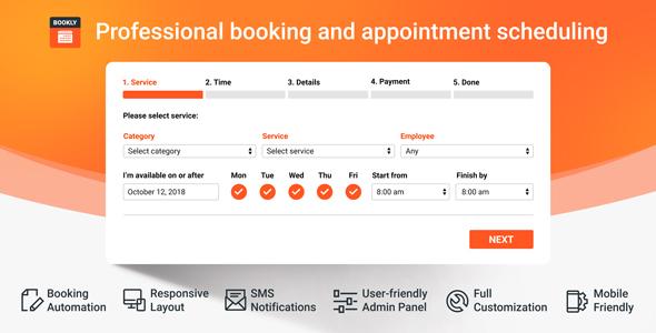 Bookly Booking Plugin v19.7 + Pro Addon v3.7