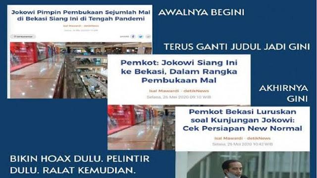 "Jurnalis Detikcom Diancam Bunuh, Dikaitkan soal Berita ""Pembukaan Mal oleh Jokowi"""