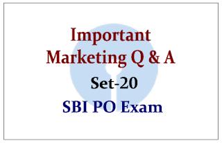Important Marketing Questions- Set 20