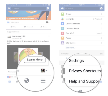 Facebook Setting for Mobile 2017