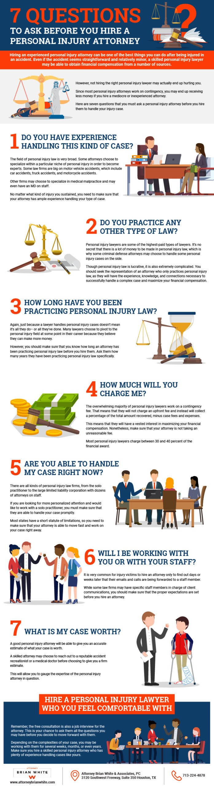 7 Questions to Ask Before You Hire a Personal Injury Attorney #infographic