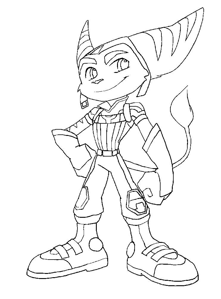 Ratchet and clank coloring coloring pages for Ratchet coloring pages