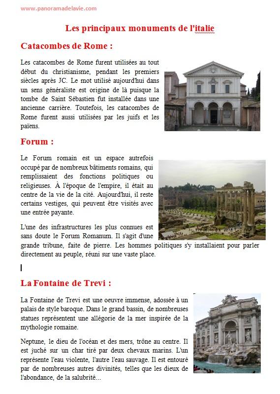 بحث جاهز حول ايطاليا بالفرنسية