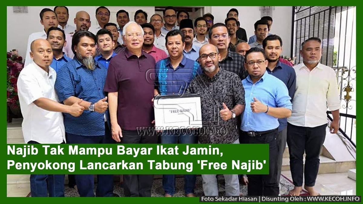Penyokong Lancar Tabung Dan Mohon Bantuan Untuk Bebaskan Najib