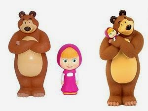Gambar Boneka Masha and The Bear Lucu Funny Dolls