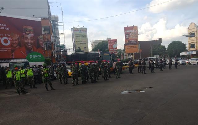 Sosialisasi Cegahan Covid 19, Jajaran Kodim 0410/KBL laksanakan Patroli Gabungan