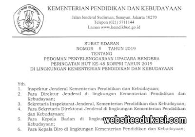 Pedoman Upacara Bendera Peringatan KORPRI Tahun 2019