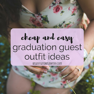 Need some last minute ideas on what to wear to your bestie's graduation ceremony? From dresses to rompers to jumpsuits and even shoes, I have graduation outfit inspiration for you! What to wear to graduation. College graduation outfits. Grad school graduation outfits. Law school graduation outfits | brazenandbrunette.com