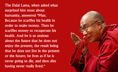 Dalai Lama Past Present Future Quote