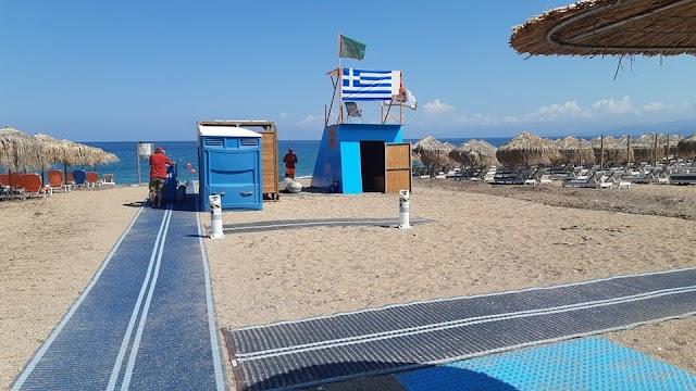 «Τοποθέτηση μηχανισμών (ράμπες ΑΜεΑ) σε παραλίες του Δήμου Τριφυλίας» (ΦΩΤΟ)