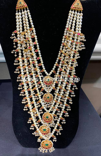 Trendy Pearls Long Sets by Moksha Diamonds