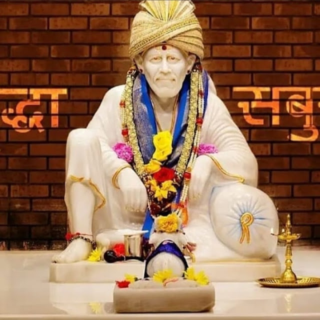 Sai baba in this images temple