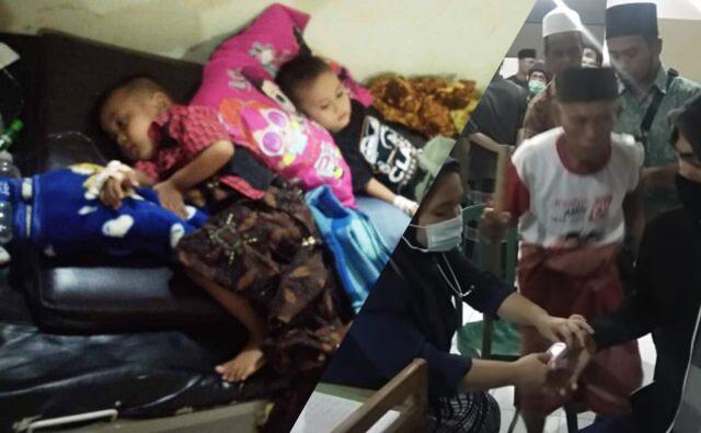 Proses evakuasi Warga Janapria Lombok Tengah yang keracunan masal