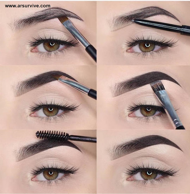 How to draw eyebrows at home