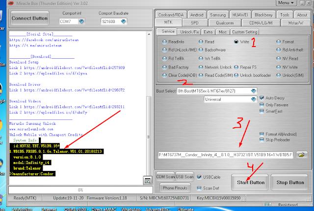 condor infinity i4 flash file,telenor infinity i4 flash file