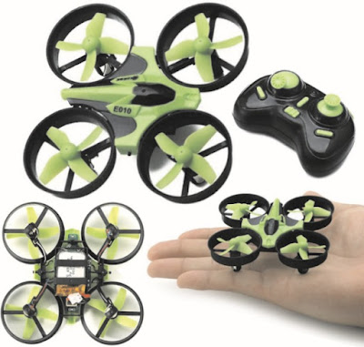 Eachine Drones: Four-Channel Mini Quadcopter Drone - 2.4G Six-Axis Rechargeable Flying Toy - E010