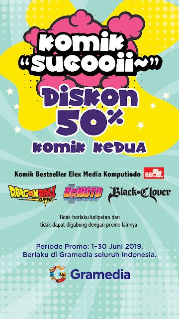 #Gramedia - #Promo Diskon 50% Komik Kedua (s.d 30 Juni 2019)