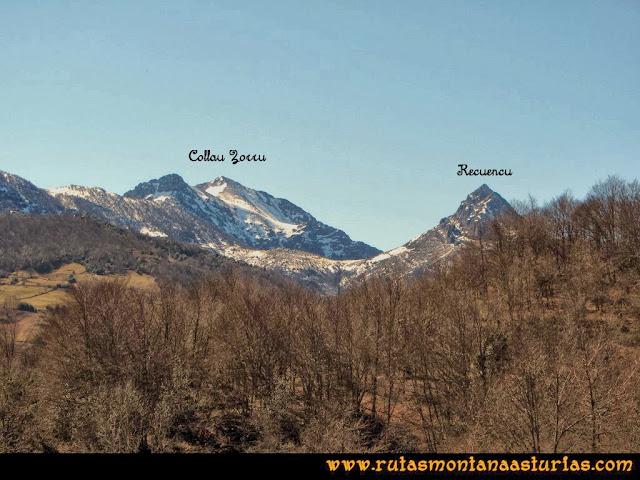 Ruta al Pico Pierzu: Vista del Recuencu y Collau Zorru