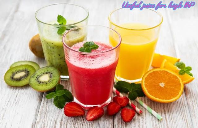 Useful juice for high BP