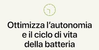 ottimizza ricarica batteria iphone