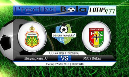 PREDIKSI SKORE BHAYANGKARA FC VS MITRA KUKAR 17 MEI 2018
