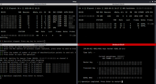 H4Rpy – Automated WPA/WPA2 PSK Attack Tool