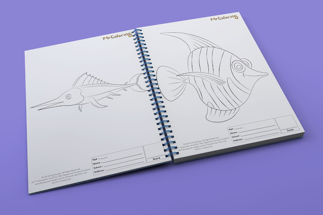 printable fish template outline coloriage Blank coloring pages book pdf pictures to print out for kids to color fun colouring page child