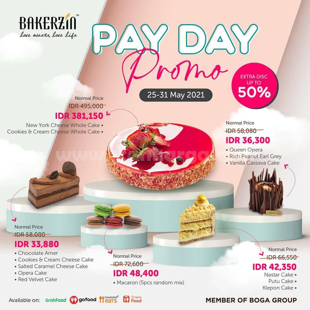 Promo Bakerzin Payday Diskon 50% harga Cake mulai Rp 36.300