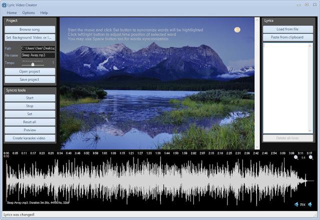 Screenshot Lyric Video Creator Professional 5.1 Full Version