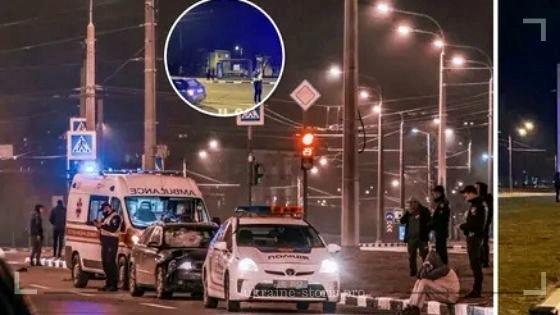 У Харкові водій збив поліцейського на переході та протягнув його 50 метрів. Фото ДТП