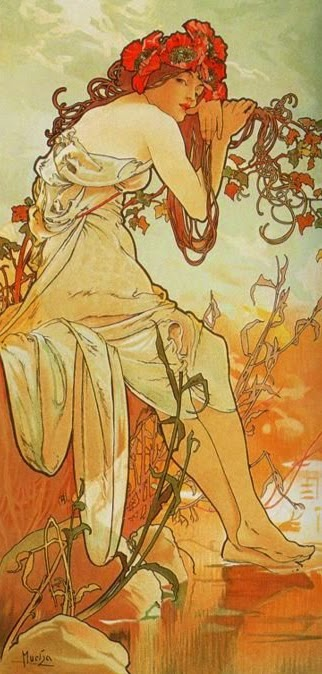 The Seasons:Summer (1896) by Mucha
