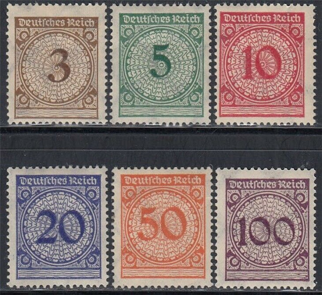 Deutsches Reich 1923 Nr. 338-343