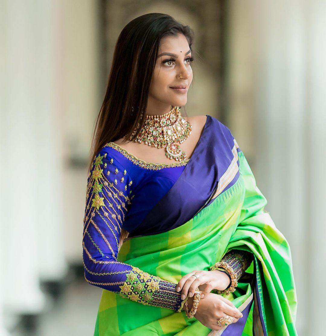 Actress Yashika Aanand Latest Photos in Saree