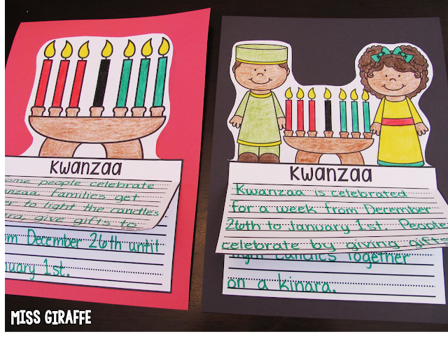 Kwanzaa writing craft activity and other fun Christmas around the world ideas
