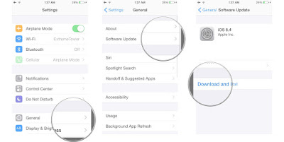 Download and install iOS 8.4.1